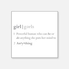 """Girls Defined"" Sticker"