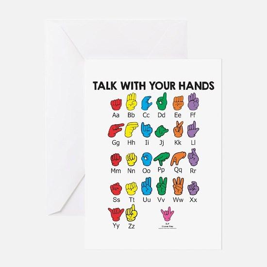 Learn Sign Language Greeting Card