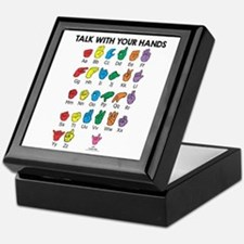 Learn Sign Language Keepsake Box