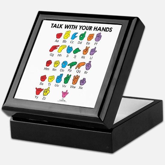 Learn Sign Language Keepsake Box