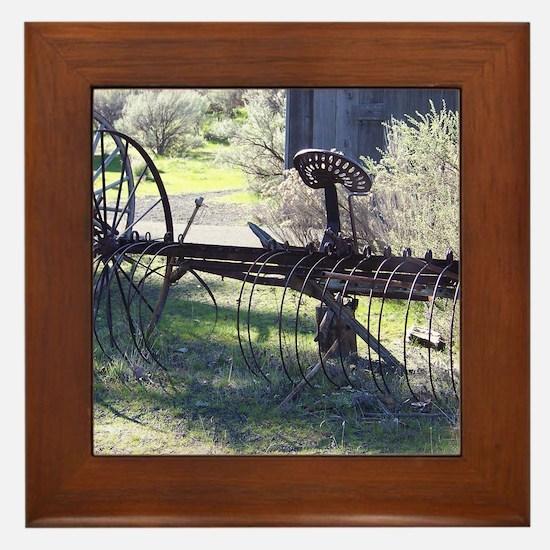 Vintage farm Framed Tile