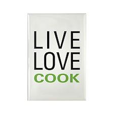 Live Love Cook Rectangle Magnet (100 pack)