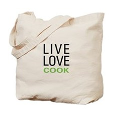 Live Love Cook Tote Bag