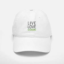 Live Love Cook Baseball Baseball Cap