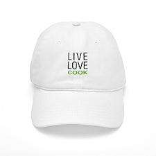Live Love Cook Baseball Cap