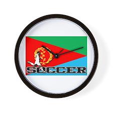 Enitrea Flag Soccer Wall Clock