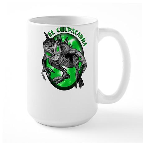 Chupacabra with Background 5 Large Mug