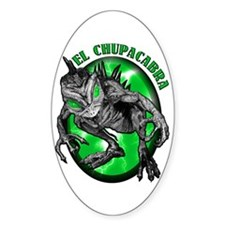 Chupacabra with Background 5 Oval Decal