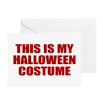 This is My Halloween Costume Greeting Cards (Pk of
