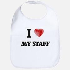 I love My Staff Bib