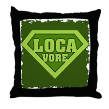 Locavore Throw Pillow