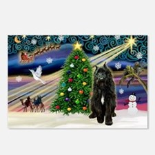 Xmas Magic / Bouvier Postcards (Package of 8)