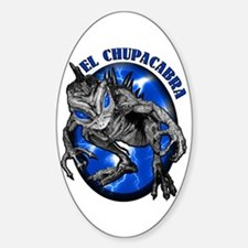 Chupacabra with Background 8 Oval Decal