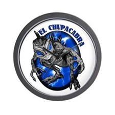Chupacabra with Background 8 Wall Clock