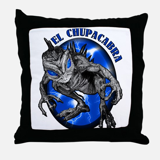 Chupacabra with Background 8 Throw Pillow