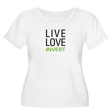 Live Love Invest Women's Plus Size Scoop Neck T-Sh