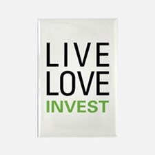 Live Love Invest Rectangle Magnet