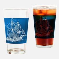 Funny Regatta blue Drinking Glass