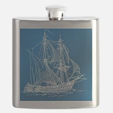 Unique Regatta blue Flask