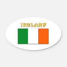 Flag of Ireland w Txt Oval Car Magnet