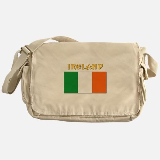 Flag of Ireland w Txt Messenger Bag