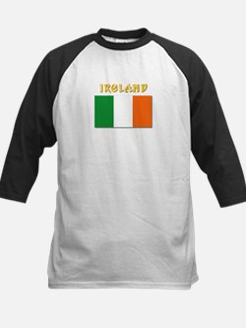 Flag of Ireland w Txt Kids Baseball Jersey