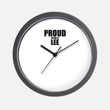 Proud to be LEE Wall Clock