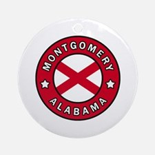 Cute From alabama Round Ornament