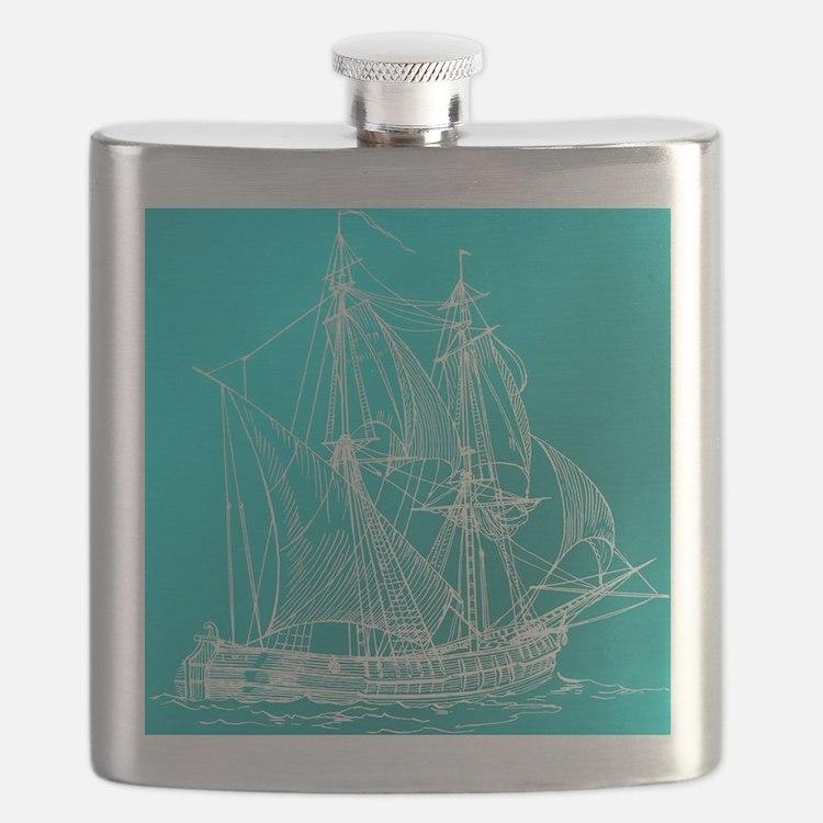 Cute Regatta blue Flask