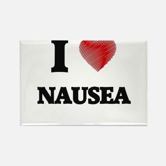 I Love Nausea Magnets