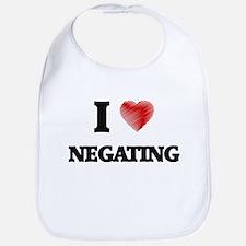 I Love Negating Bib