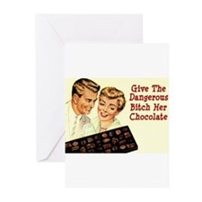 DANGEROUS BITCH CHOCOLATE Greeting Cards (Pk of 20