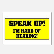 SPEAK UP - I'M HARD OF HE Postcards (Package of 8)