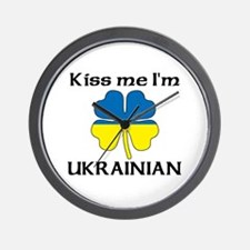 Kiss Me I'm Ukrainian Wall Clock
