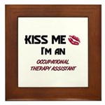 Kiss Me I'm a OCCUPATIONAL THERAPY ASSISTANT Frame