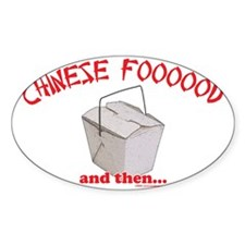 Chinese Foooood Oval Decal