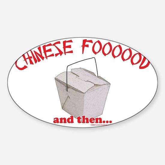 Chinese Foooood Oval Decal