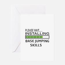 Please wait, Installing base jumping Greeting Card