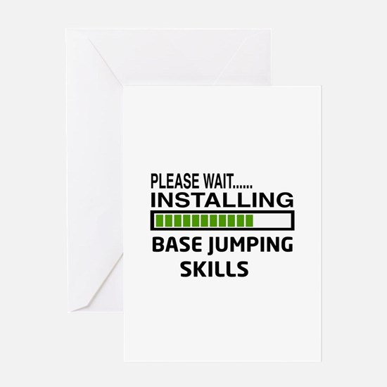 Please wait, Installing base jumping Greeting Card