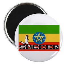 Ethiopia Flag Soccer Magnet