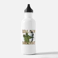 Real Men Bow Hunt Water Bottle