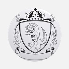 Alligator Standing Coat of Arms Black and White Ro