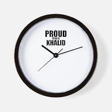Proud to be KHALID Wall Clock