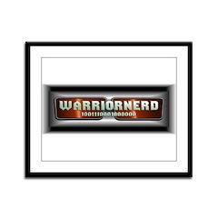 Warriornerd (red) Framed Panel Print