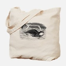 Funny Vintage whale Tote Bag