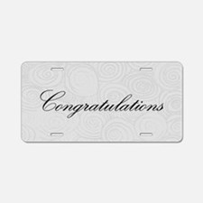 Congratulation Swirls Aluminum License Plate
