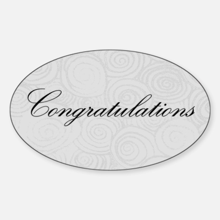 Congratulation Swirls Decal