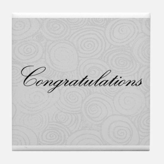 Congratulation Swirls Tile Coaster