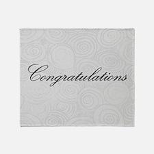 Congratulation Swirls Throw Blanket