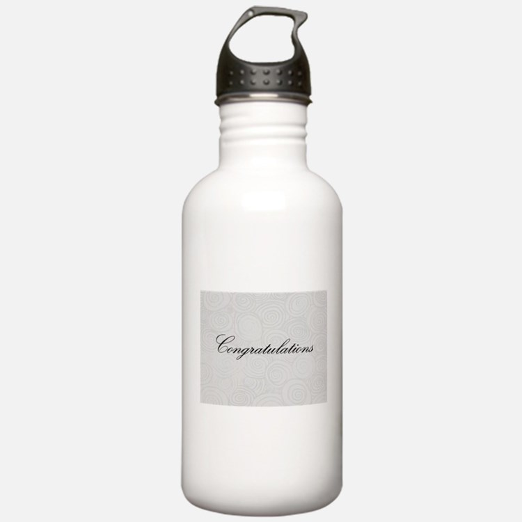 Congratulation Swirls Water Bottle